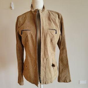 Ruff Hewn Women's Tan Leather Jacket Size M